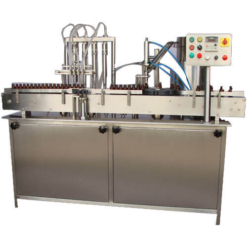 Liquid Filling Machine With Inner Plug Pressing Machine
