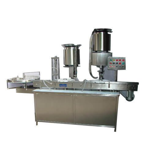 Vial Filling Stoppering  And Cap Sealing Machine , Vial Filler Capper – Monoblock Model Manufacturers & Exporters from India