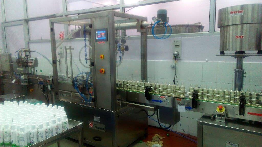 Shampoo Filling Capping Plant
